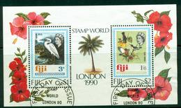 Fiji 1990 Stamp World MS FU Lot14967 - Fiji (1970-...)