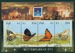 Fiji 1994 HK'94 Butterflies MS FU Lot14980 - Fiji (1970-...)