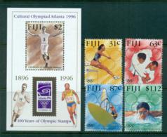 Fiji 1996 Modern Olympic Centenary + MS MUH Lot54419 - Fiji (1970-...)