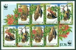 Fiji 1997 Bats MS FU Lot15003 - Fiji (1970-...)