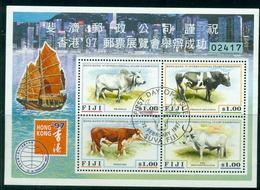 Fiji 1997 HK Cattle MS FU Lot14998 - Fiji (1970-...)