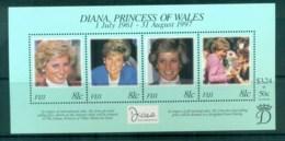 Fiji 1998 Princess Diana In Memoriam MS MUH Lot81815 - Fiji (1970-...)