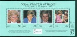 Fiji 1998 Princess Diana In Memoriam, Princess Of Wales MS MUH - Fiji (1970-...)