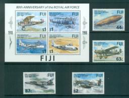 Fiji 1998 RAF 80th Anniv. + MS MUH Lot66654 - Fiji (1970-...)