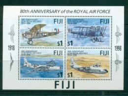 Fiji 1998 RAF Planes MS MUH Lot54452 - Fiji (1970-...)