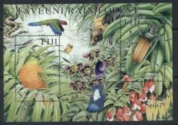 Fiji 2001 Taveuni Rain Forest, Bird MS MUH - Fiji (1970-...)