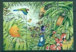 Fiji 2001 Taveuni Rain Forest, Bird, Insect MS MUH - Fiji (1970-...)