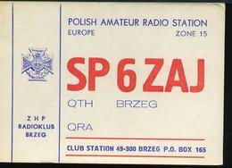 RA895 QSL BRZEG POLISH AMATEUR RADIO STATION - Carte QSL