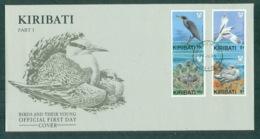 Kiribati 1989 Birds Pt I FDC Lot70948 - Kiribati (1979-...)