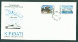 Kiribati 1989 Transport & Telecommunications FDC Lot70950 - Kiribati (1979-...)