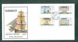 Kiribati 1990 Nautical History Pt II FDC Lot70955 - Kiribati (1979-...)