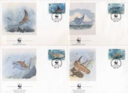 Kiribati 1991 WWF Whale Shark & Mantra Ray FDC - Kiribati (1979-...)