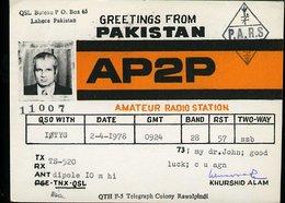 RA900 QSL PAKISTAN , LAHORE - Carte QSL