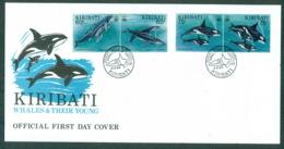 Kiribati 1994 Whales & Their Young FDC Lot70963 - Kiribati (1979-...)