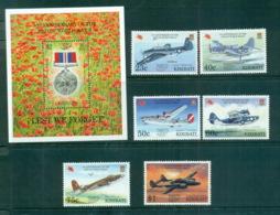 Kiribati 1997 WWII Anniv. ,Planes, Pacific 97 Opt + MS MUH Lot70919 - Kiribati (1979-...)