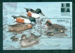 Kiribati 1999 Waterbirds , Ducks IBRA '99 MS MUH - Kiribati (1979-...)