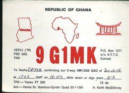 RA901 QSL GHANA , KUMASI - Carte QSL