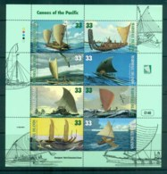 Marshall Is 1999 Canoes Of The Pacific Sheetlet MUH Lot81734 - Marshall Islands