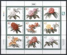 Marshall Is 2012 Flowers Sheetlet MUH - Marshall Islands