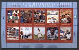 Marshall Is 2013 Civil Rights Sheetlet MUH - Marshall Islands