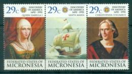 Micronesia 1992 Discovery Of America 500th Anniv. MUH - Micronesia