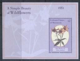 Micronesia 2000 Wildflowers, Yellow Meadow Lily MS MUH - Micronesia