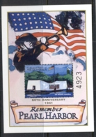 Micronesia 2001 Pearl Harbour 60th Anniv MS MUH - Micronesia