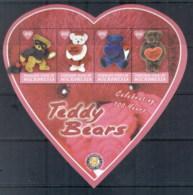 Micronesia 2002 100th Birthday Of The Teddy Bear MS MUH - Micronesia