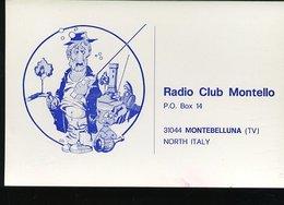 RA906 QSL MONTEBELLUNA , RADIO CLUB MONTELLO - Carte QSL