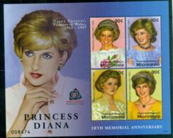 Micronesia 2007 Princess Diana In Memoriam, 10th Anniv., Beautiful & Thoughtful MS MUH - Micronesia