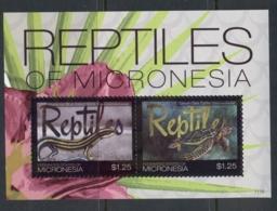 Micronesia 2011 Reptiles Of Micronesia MS MUH - Micronesia