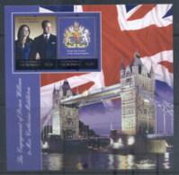 Micronesia 2011 Royal Engagement William & Kate #1025 $1.50 MS MUH - Micronesia