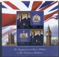 Micronesia 2011 Royal Engagement William & Kate #1025 94c MS MUH - Micronesia