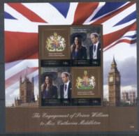 Micronesia 2011 Royal Engagement William & Kate #1026 94c MS MUH - Micronesia