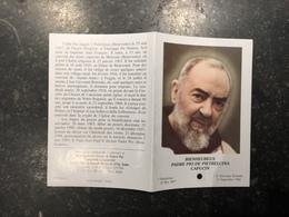 18ZA - Padre Pio Avec Relique - Devotion Images