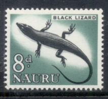 Nauru 1963-65 Pictorials, Black Lizard 8d MUH - Nauru