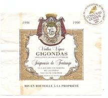 Etiket Etiquette - Vin - Wijn - Gigondas - Seigneurie De Fontagne 1990 - Etiquettes
