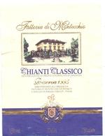Etiket Etiquette - Vin - Wijn - Chianti Classico - Fattoria Di Montecchio - 1995 - Etiquettes