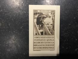 18ZA - Souvenir Baptême Cloche Manage 1946 - Santini