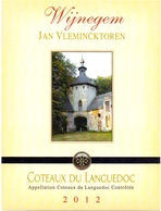 Etiket Etiquette - Vin - Wijn - Coteaux Du Languedoc - Wijnegem Jan Vlemincktoren - 2012 - Rouges