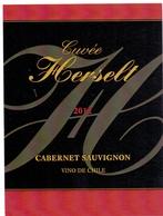Etiket Etiquette - Vin - Wijn - Cabernet Sauvignon Chile - Cuvée Herselt 2013 - Rouges