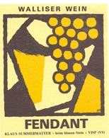 Etiket Etiquette - Vin - Wijn - Walliser Wein - Fendant - Klaus Summermatter - Etiquettes