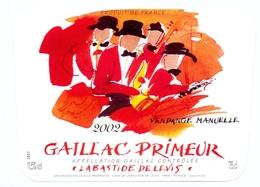 Etiket Etiquette - Vin - Wijn - Gaillac Primeur - Labastide De Levis 2002 - Etiquettes