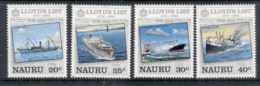 Nauru 1984 Lloyd's List, Ships MUH - Nauru