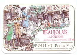 Etiket Etiquette - Vin - Wijn - Beaujolais La Poterne - Poulet Frères - Beaujolais