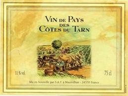 Etiket Etiquette - Vin - Wijn - Vin De Pays - Cotes Du Tarn - Etiquettes