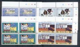Nauru 1986 Bank Of Nauru, Children's Drawings Blk4 MUH - Nauru