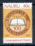 Nauru 1987 Congregational Church MUH - Nauru
