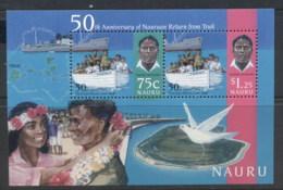 Nauru 1996 Return From Truk MS MUH - Nauru