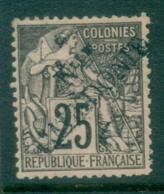 New Caledonia 1892 French Colonies Opt Black On Rose 1c MLH - Gebruikt